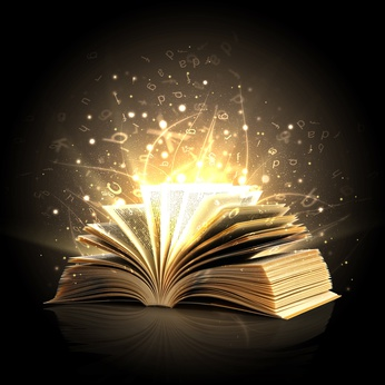 Magic book with magic lights